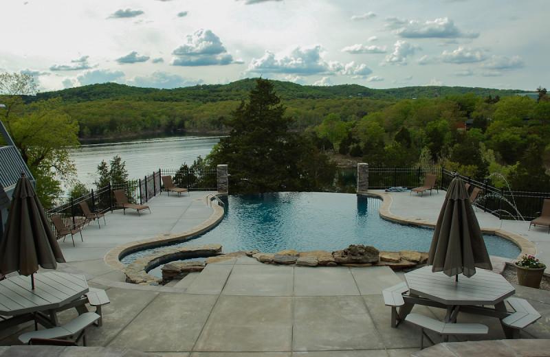 Outdoor pool at Alpine Lodge Resort.