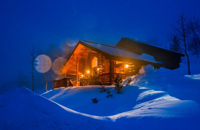 Winter cabin at Vista Verde Ranch.