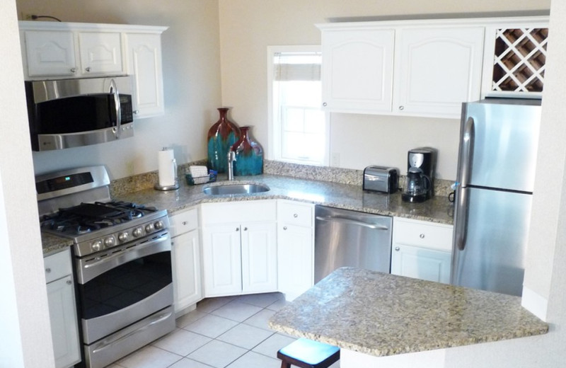 Guest kitchen at Fairway Suites.