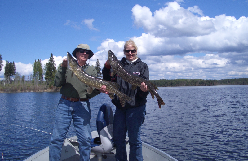 Fishing at Sandy Beach Lodge.