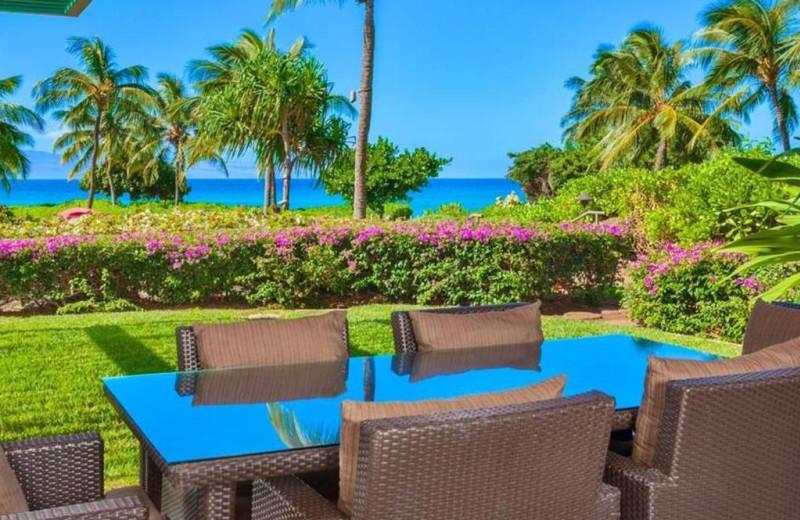 Guest patio at Honua Kai Resort & Spa.