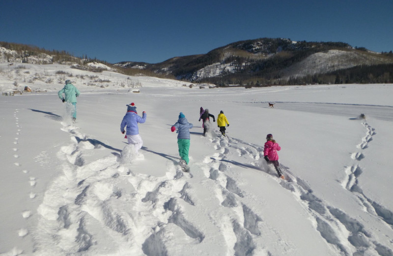 Kids and snow...a perfect combination.  Our kids program will keep them busy all day.