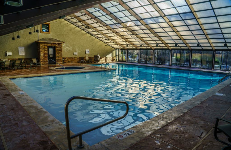 Indoor pool at Foscoe Rentals.