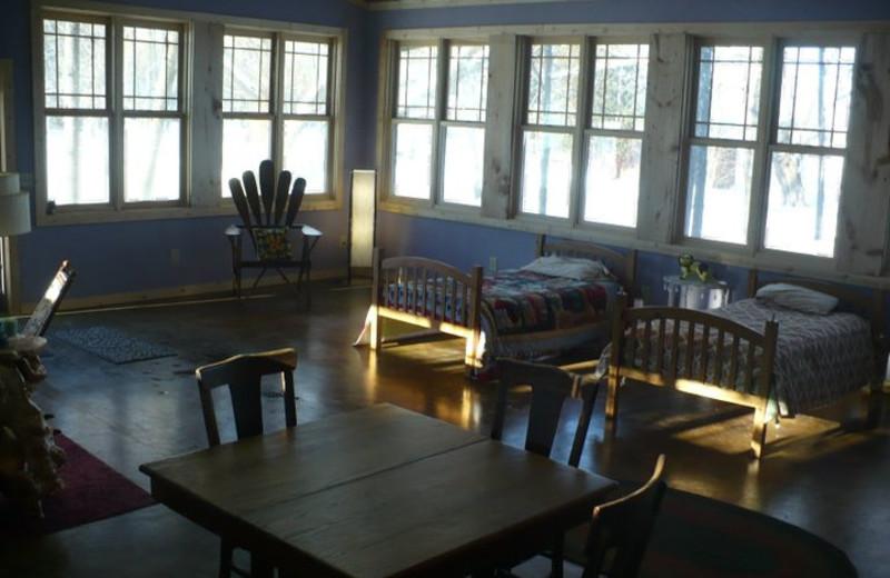 Spa lodge at Grey Wolf Lodge.