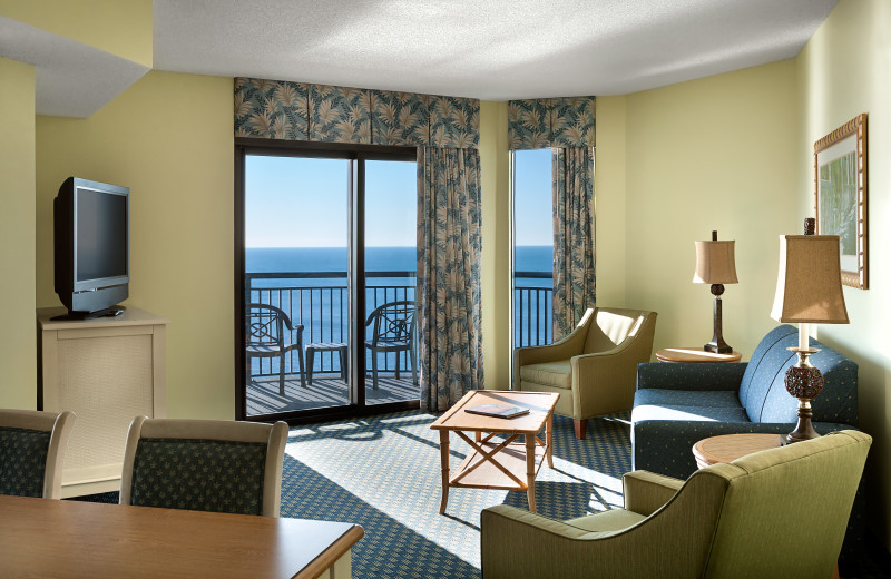 Guest room at Caribbean Resort & Villas.