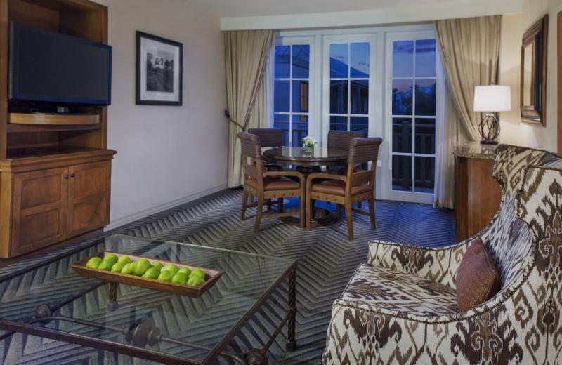 Guest room at Hyatt Regency Hill Country Resort and Spa.