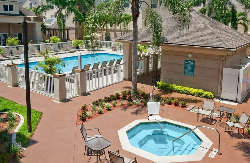 Outdoor pool at Homewood Suites by Hilton Ft. Myers Bell Tower Hotel.