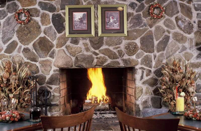 Fireplace at The Meadowmere Resort.