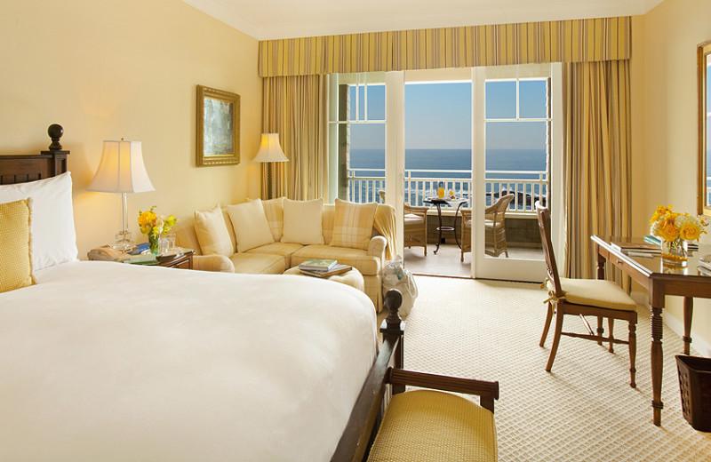 Guest room at Montage Laguna Beach.