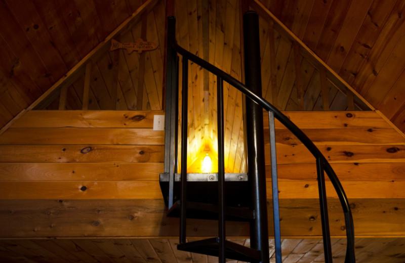 Cabin stairs at Kel's Kove.
