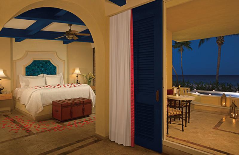 Guest room at Zoetry Paraiso de la Bonita Riviera Maya.