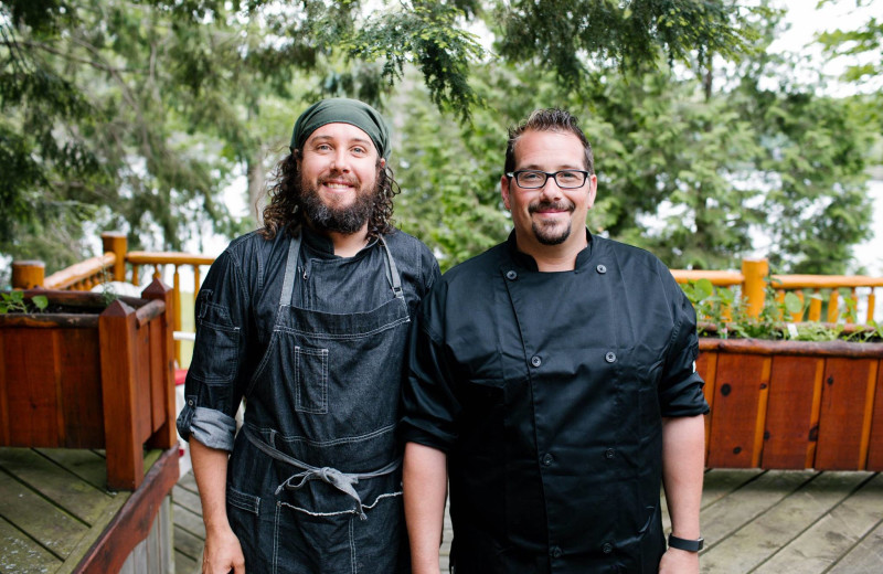 Chef James (on the right) and his team offer a fresh, local culinary experience at Heather Lodge.
