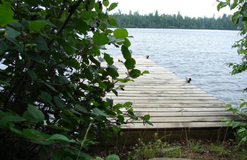 Private dock at Rockwood Lodge.