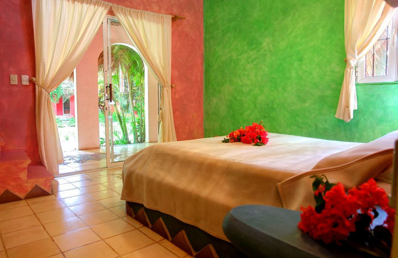 Guest room at Hotel Las Tortugas.
