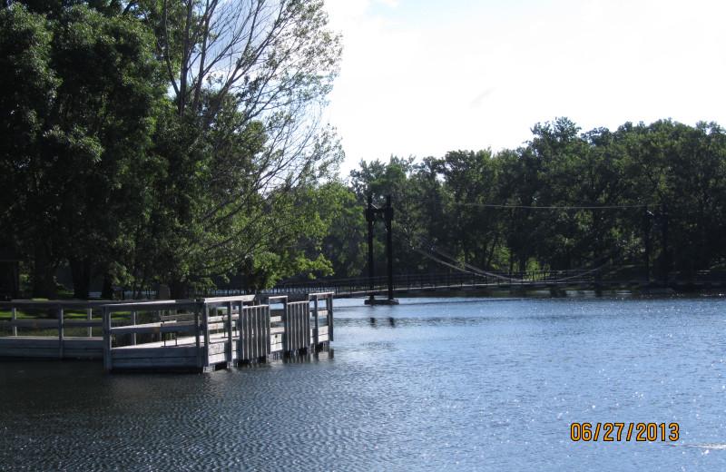 Lake view at Sherin Memorial Park.