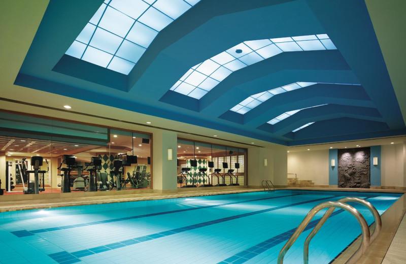 Indoor pool at Shangri-La Hotel-Wuhan.