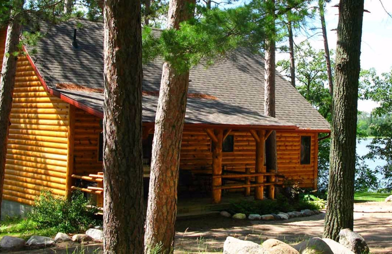Exterior view of Breezy Point Resort on Straight Lake.