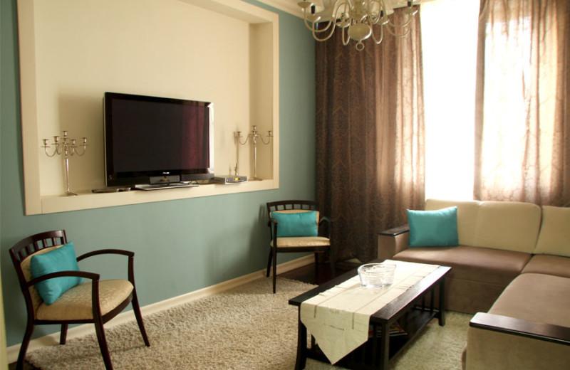 Apartment living room at Chisinau apartments.