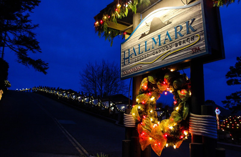 Winter at Hallmark Resort & Spa Cannon Beach.