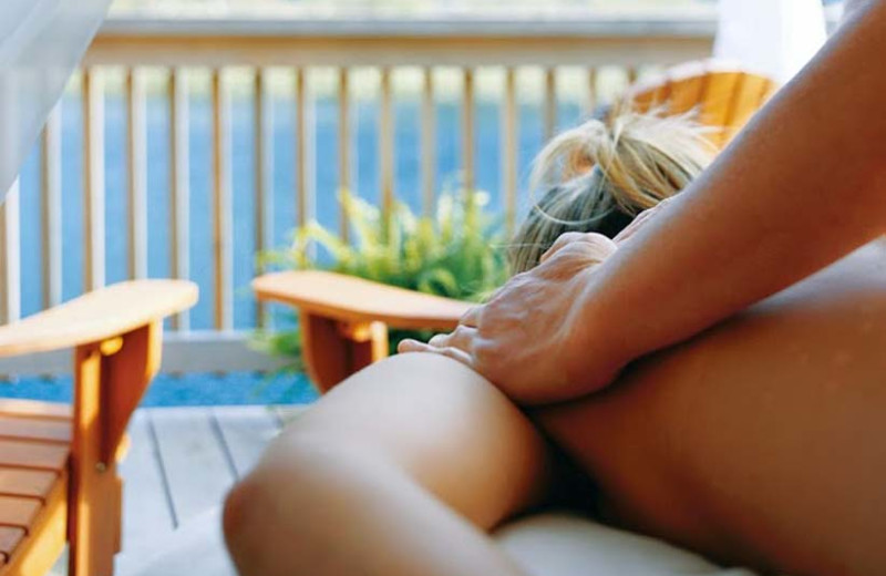 Back massage at Clayoquot Wilderness Resort.