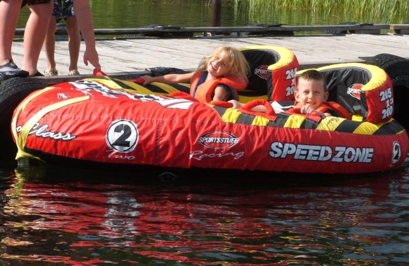 Lake activities at Bakers Narrows Lodge.