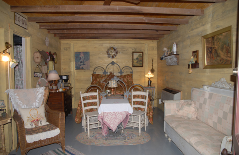 Guest bedroom at Somewhere In Time B & B.