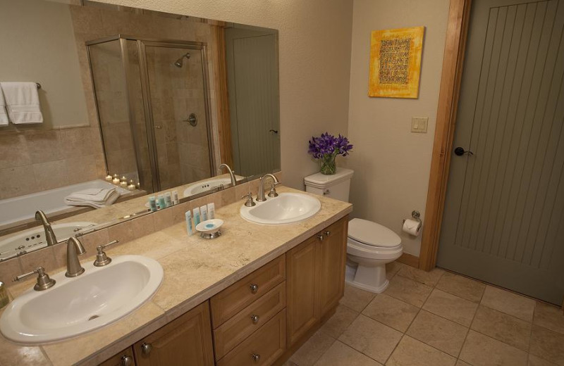 Guest bathroom at Edelweiss Lodge and Spa.