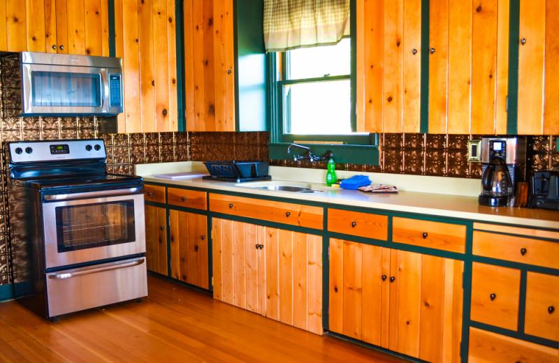 Mansion kitchen at Meeks Bay Resort