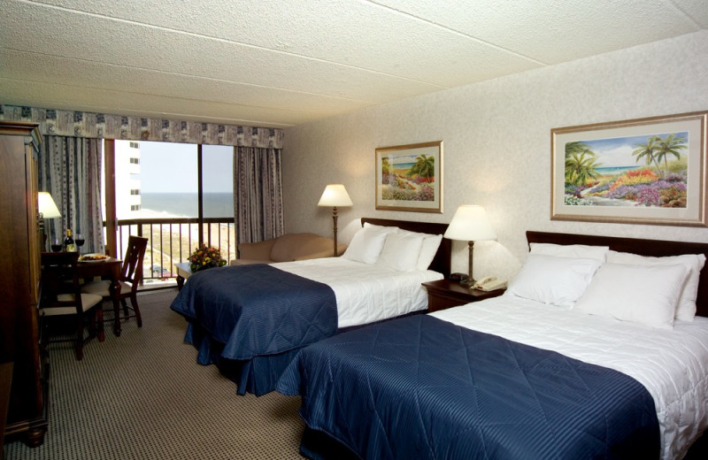 Two bed guest room at Clarion Resort Fontainebleau.