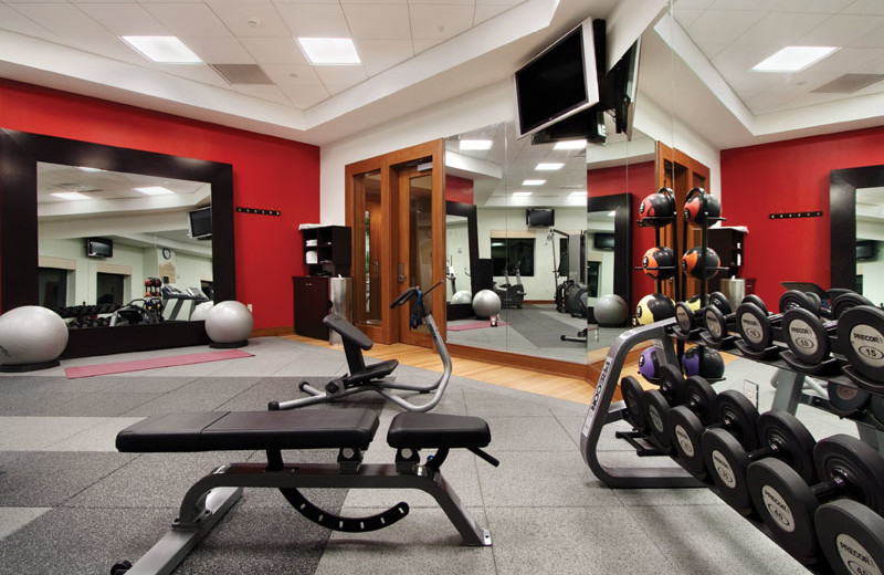 Fitness room at Hilton Suites Ocean City Oceanfront.