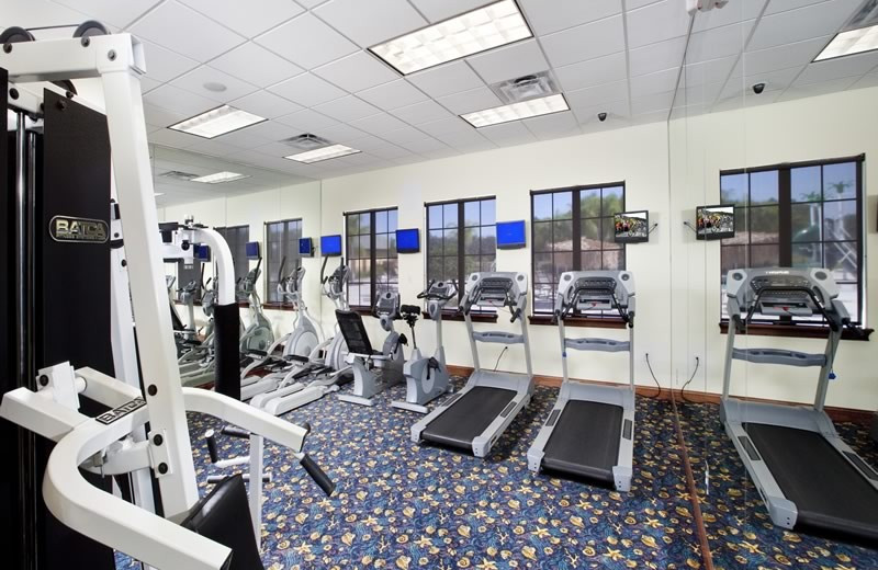 Resort fitness room at Vacation Pool Homes.