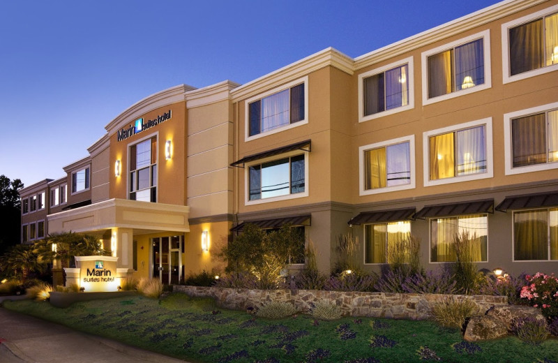 Exterior view of Marin Suites Hotel.