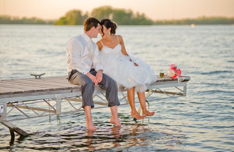 Couple at Bay Pointe Inn Lakefront Resort.