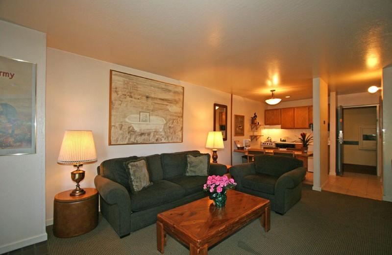 Guest living room at Aston Lakeland Village.
