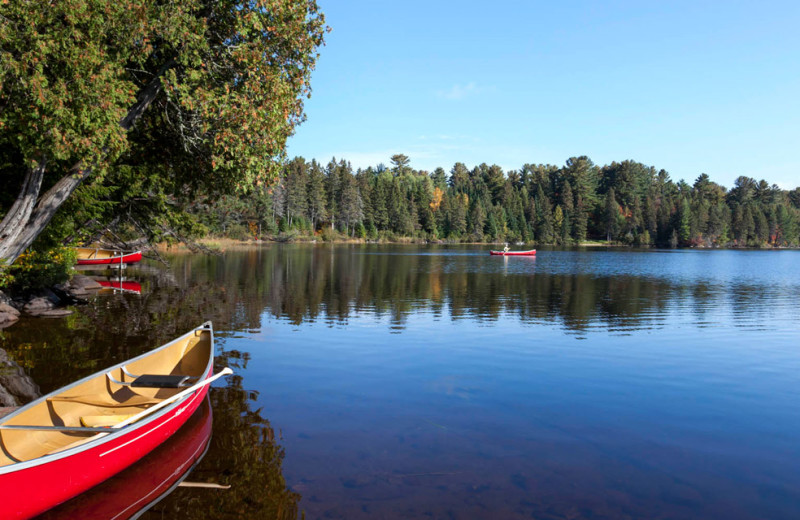 Canoeing at Killarney Lodge in Algonquin Park.