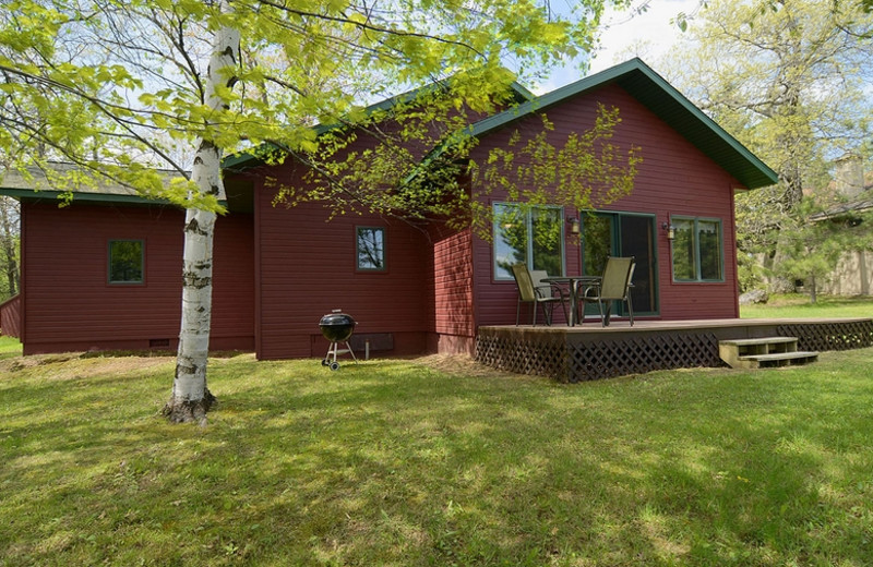 Cabin exterior at North Country Vacation Rentals.
