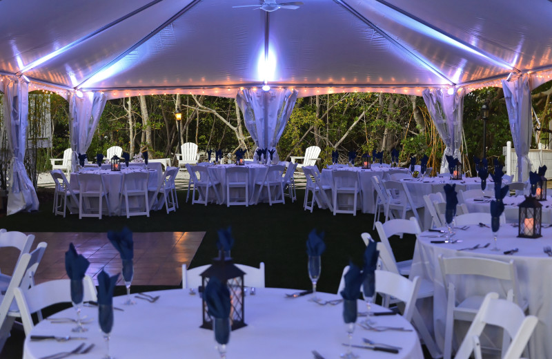 Wedding reception at Palm Island Resort.