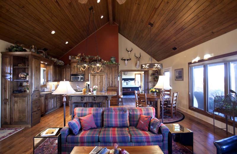 Guest living room at Joshua Creek Ranch.