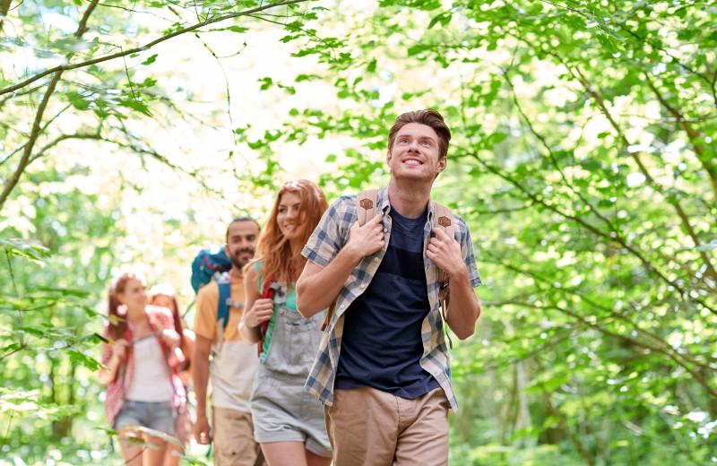 Hiking, biking, swimming, paddling... lots to keep you active at Footprints!