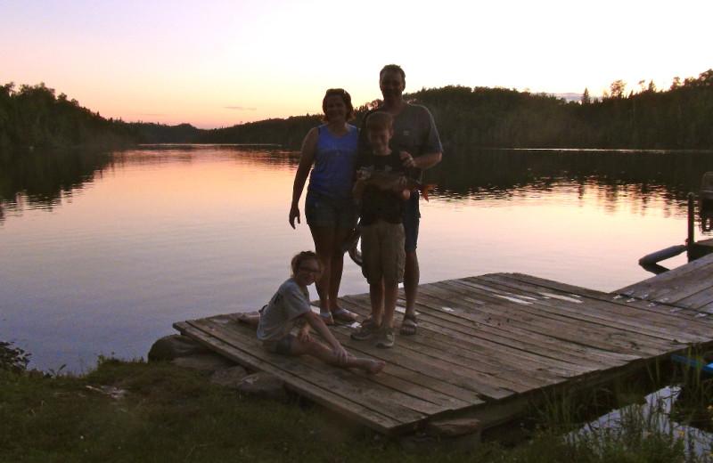 Family at Loon Lake Lodge.