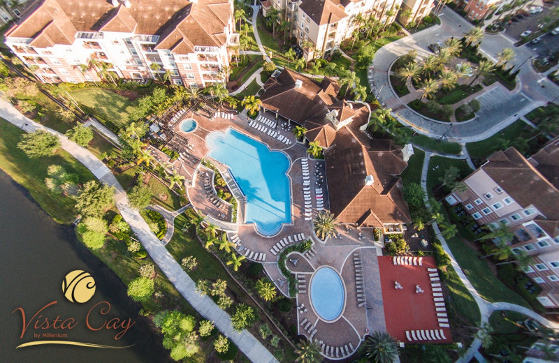 Aerial view of Vista Cay Resort by Millenium.