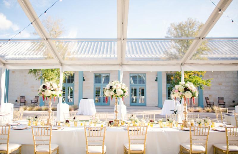 Wedding reception at Hyatt Regency Hill Country Resort and Spa.