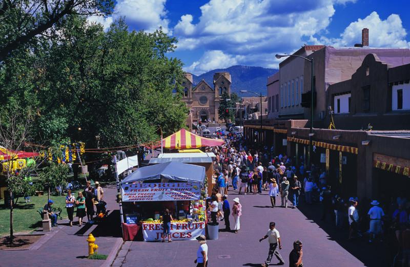 Festival at Historic Santa Fe Plaza near The Lodge at Santa Fe.