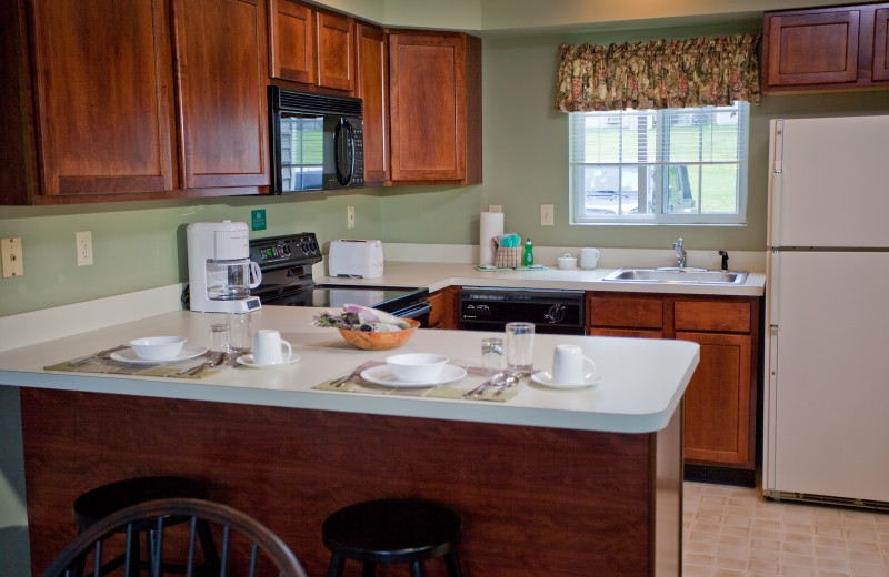 Guest kitchen at Fernwood Resort.
