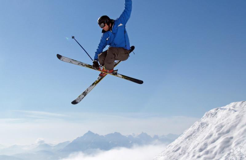 Skiing at Lakeside Resort Properties.
