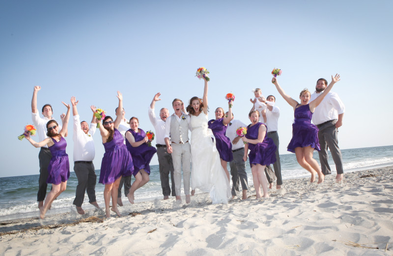 Wedding party at The Winds Resort Beach Club.