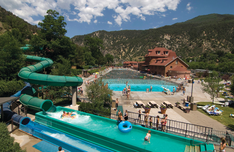 Water slides at Glenwood Hot Springs.