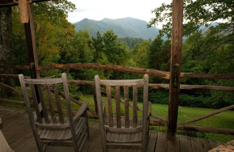 Deck View at Smokey Shadow Lodge