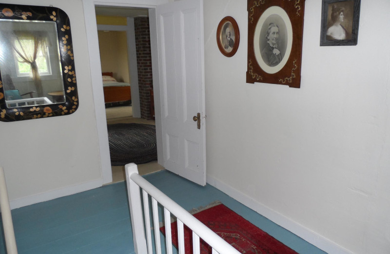 Cottage hallway at Rossport Lodging & Retreat.