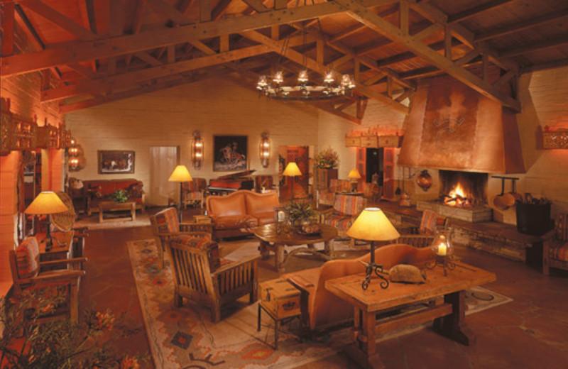 Lodge interior at Rancho De Los Caballeros.